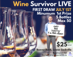 Wine Survivor Live Ad for RHRNS 2018