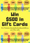 Win$500 inGift Cards